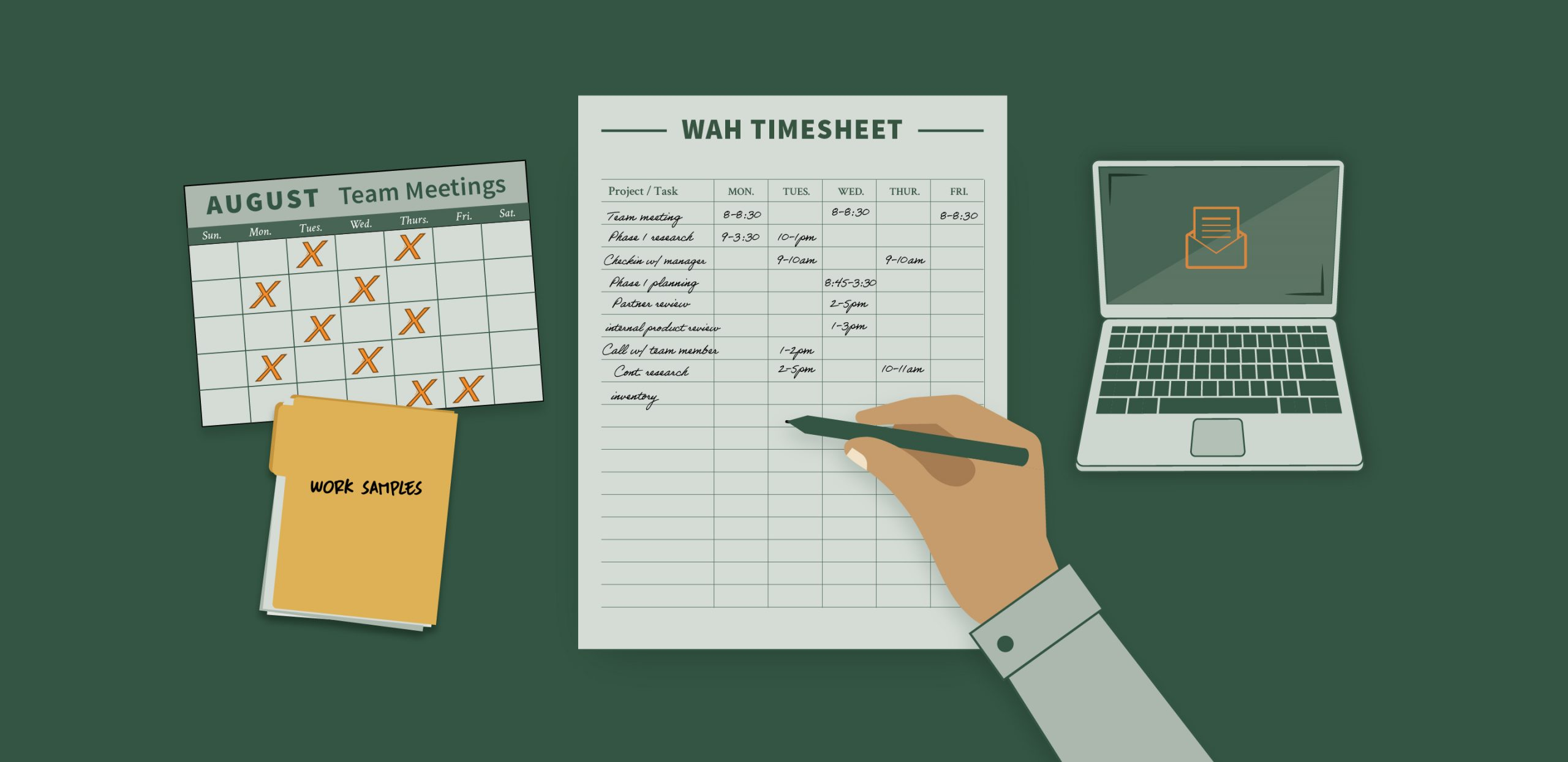 Work at home timesheet requirements for far part 31 compliance